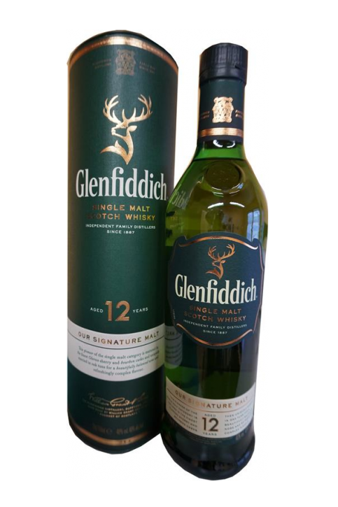 Glenfiddich Single Malt 12 Years  40%  0,7 Liter