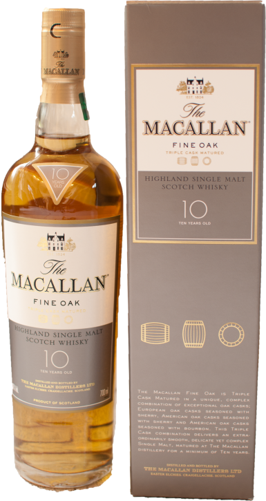 Macallan 10 Years Fine Oak Triple Cask Matured  40%  0,7 Liter