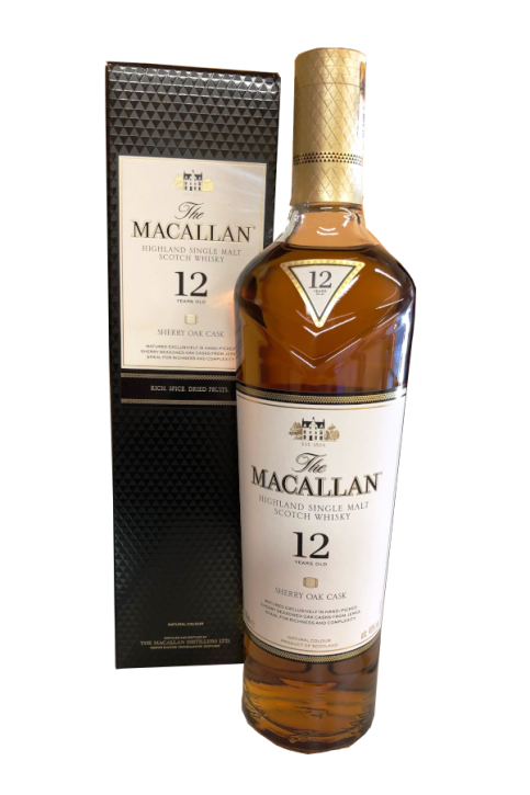 The Macallan SHERRY OAK Single Malt 12 Jahre  40%  0,7 Liter