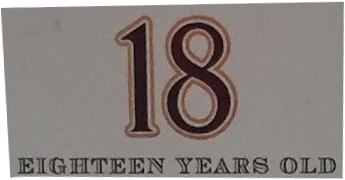 Single Malt Whisky 18 years old
